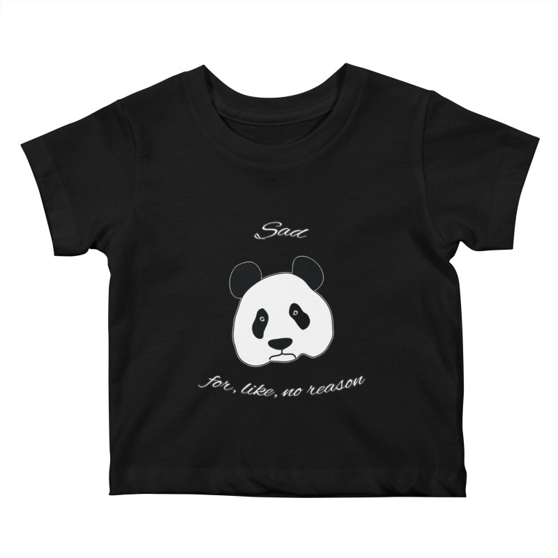Sad Panda Kids Baby T-Shirt by Shirts That Never Happened