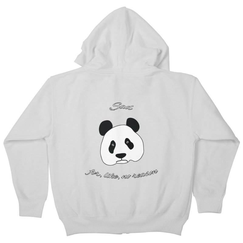Sad Panda Kids Zip-Up Hoody by Shirts That Never Happened