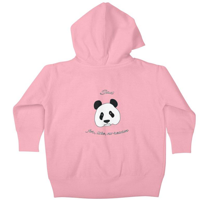 Sad Panda Kids Baby Zip-Up Hoody by Shirts That Never Happened