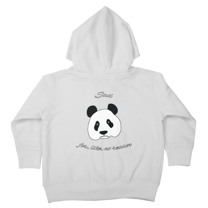 Sad Panda Kids Toddler Zip-Up Hoody by Shirts That Never Happened