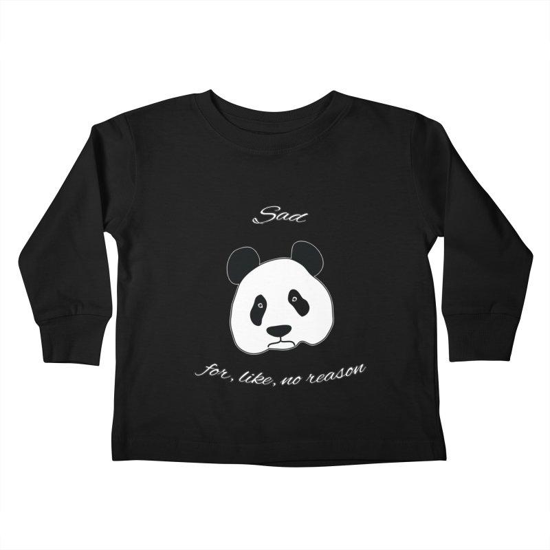 Sad Panda Kids Toddler Longsleeve T-Shirt by Shirts That Never Happened