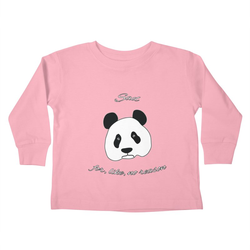 Sad Panda Kids Toddler Longsleeve T-Shirt by Shirts That Never Happened