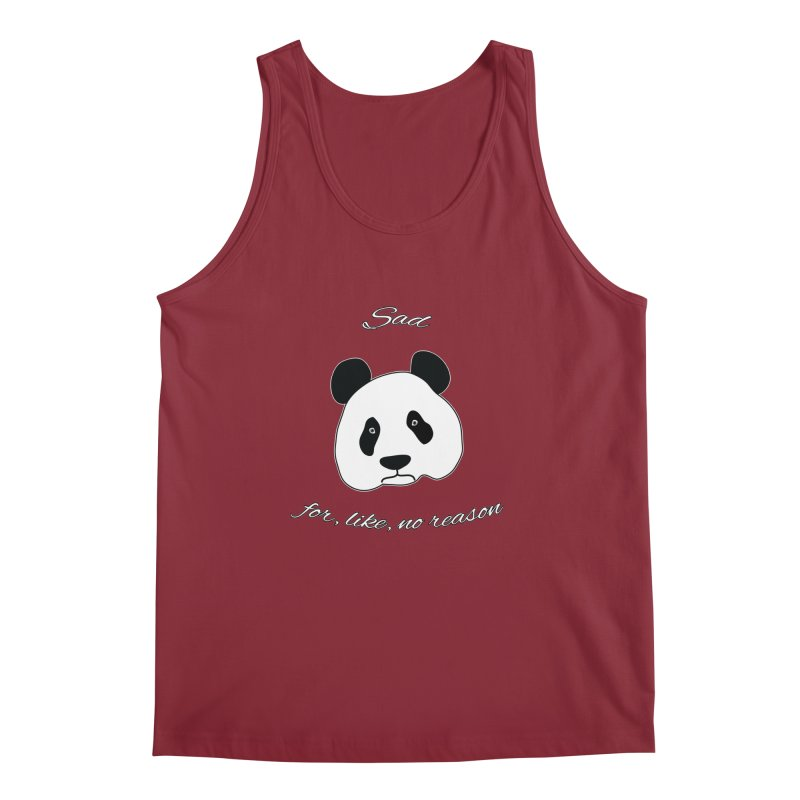 Sad Panda Men's Tank by Shirts That Never Happened