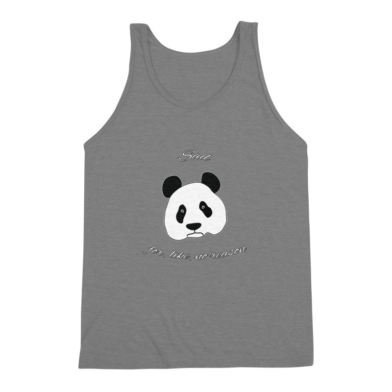 Sad Panda Men's Triblend Tank by Shirts That Never Happened