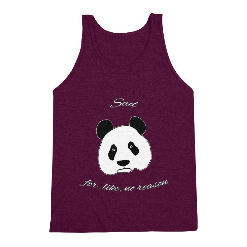 Sad Panda Men's Triblend Tank by Shirts That Never Happened