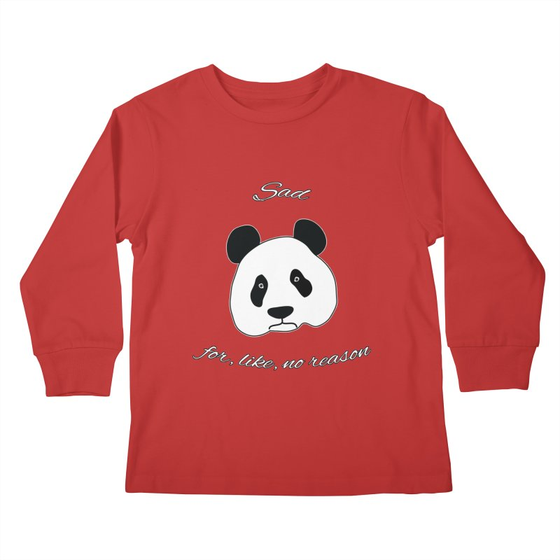 Sad Panda Kids Longsleeve T-Shirt by Shirts That Never Happened
