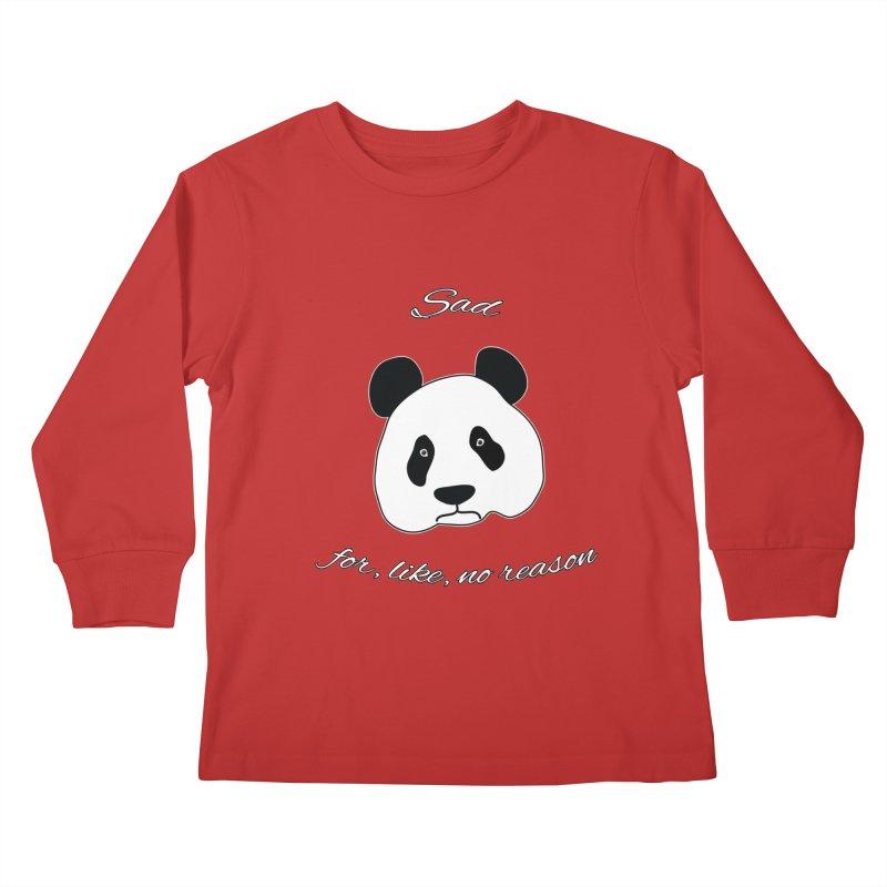 Sad Panda Kids Longsleeve T-Shirt by Shirts That Never Happened