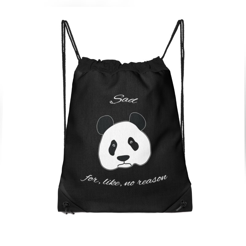 Sad Panda Accessories Drawstring Bag Bag by Shirts That Never Happened