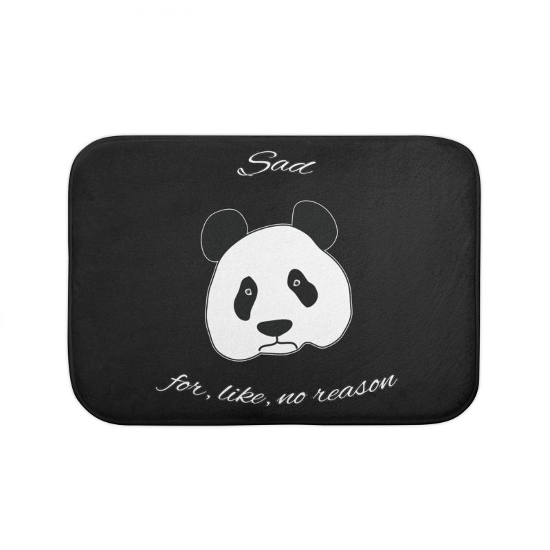 Sad Panda Home Bath Mat by Shirts That Never Happened