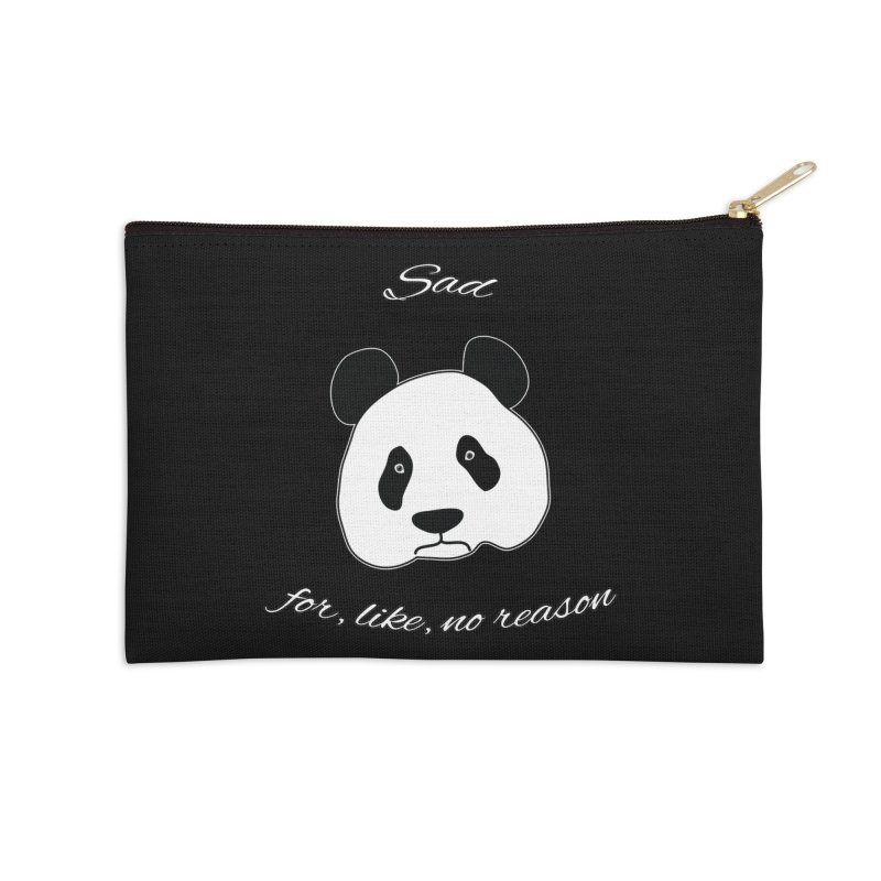 Sad Panda Accessories Zip Pouch by Shirts That Never Happened