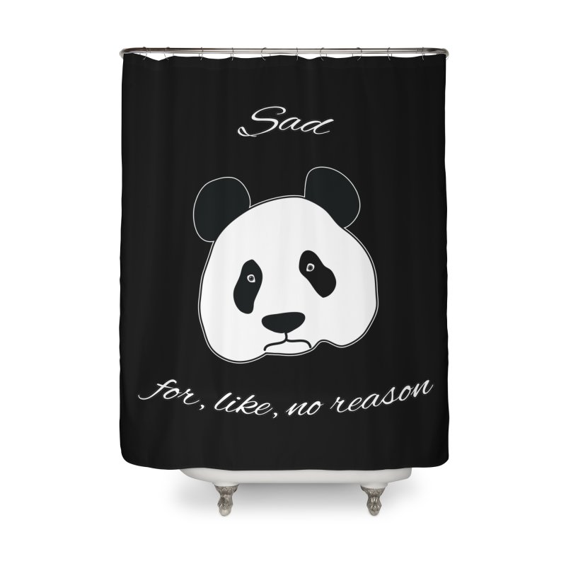 Sad Panda Home Shower Curtain by Shirts That Never Happened