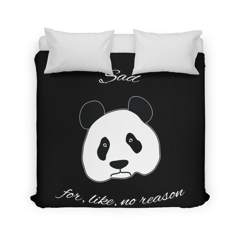 Sad Panda Home Duvet by Shirts That Never Happened