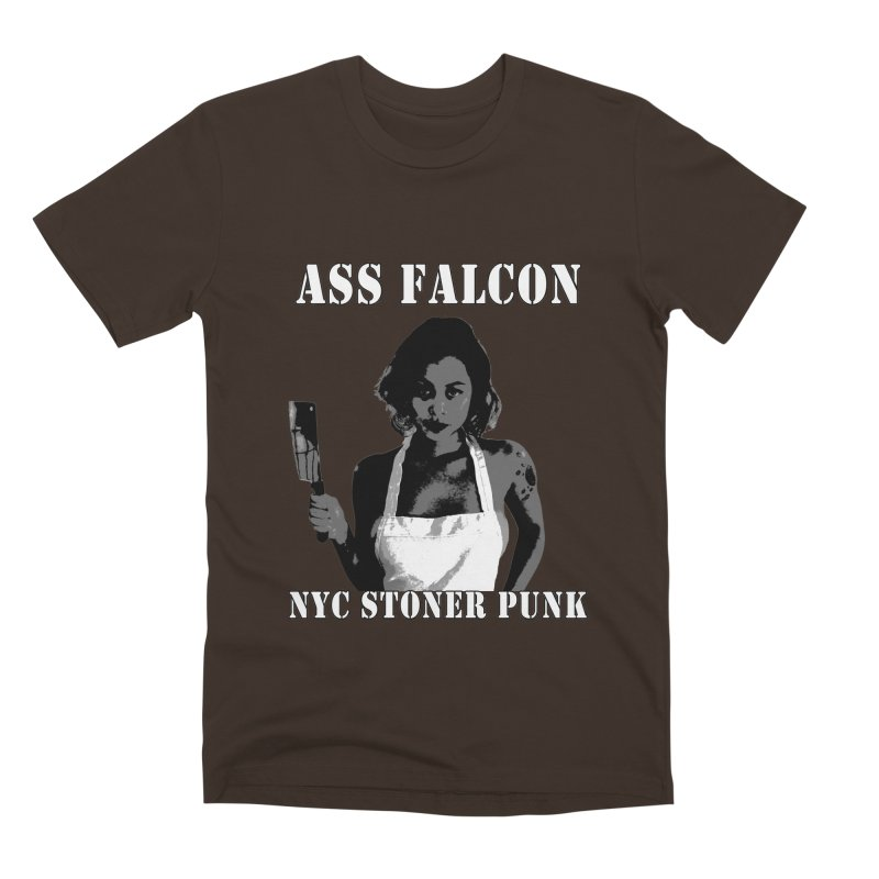 Ass Falcon Men's Premium T-Shirt by Shirts That Never Happened
