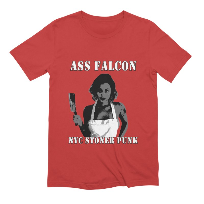 Ass Falcon Men's Extra Soft T-Shirt by Shirts That Never Happened
