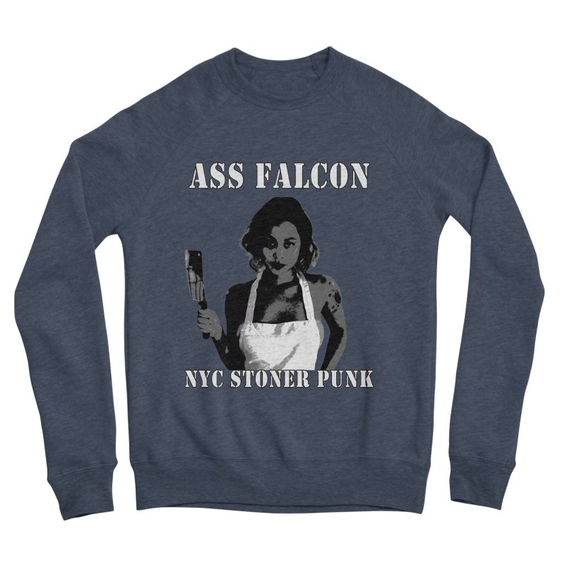 Ass Falcon Men's Sponge Fleece Sweatshirt by Shirts That Never Happened