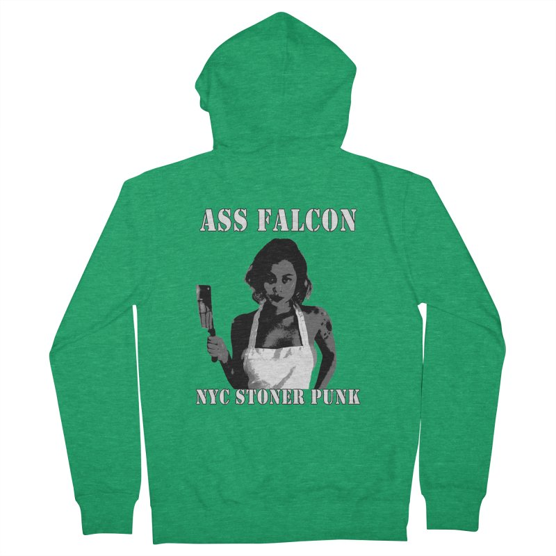 Ass Falcon Men's Zip-Up Hoody by Shirts That Never Happened
