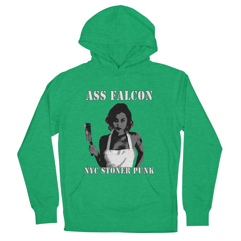 Ass Falcon Women's French Terry Pullover Hoody by Shirts That Never Happened