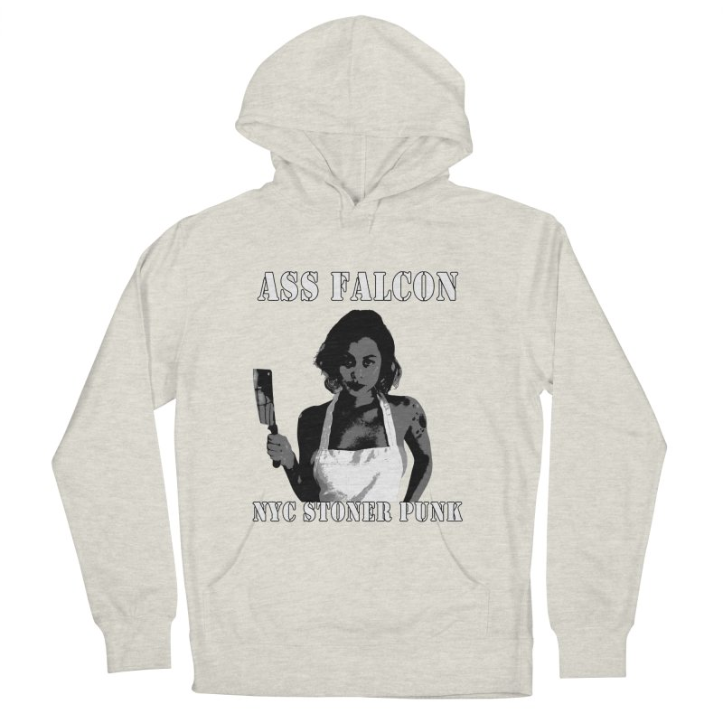 Ass Falcon Men's French Terry Pullover Hoody by Shirts That Never Happened