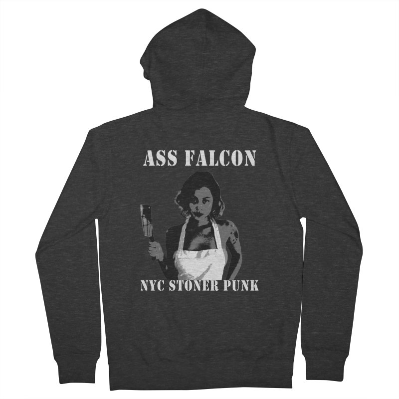Ass Falcon Women's French Terry Zip-Up Hoody by Shirts That Never Happened