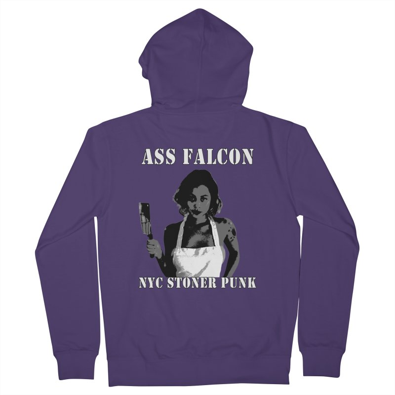 Ass Falcon Women's Zip-Up Hoody by Shirts That Never Happened