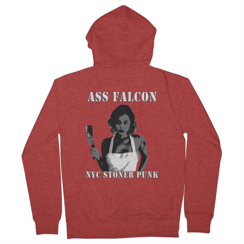 Ass Falcon Men's French Terry Zip-Up Hoody by Shirts That Never Happened