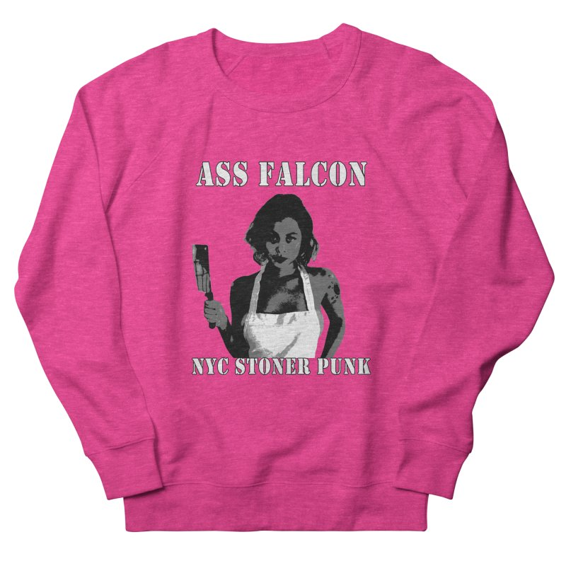 Ass Falcon Men's French Terry Sweatshirt by Shirts That Never Happened