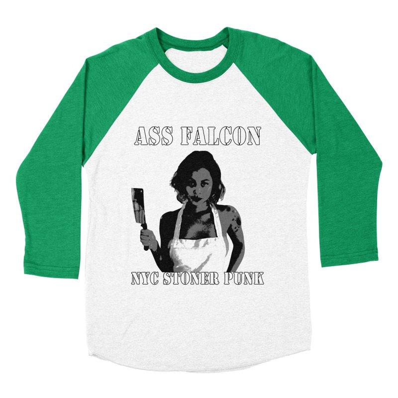 Ass Falcon Women's Baseball Triblend Longsleeve T-Shirt by Shirts That Never Happened