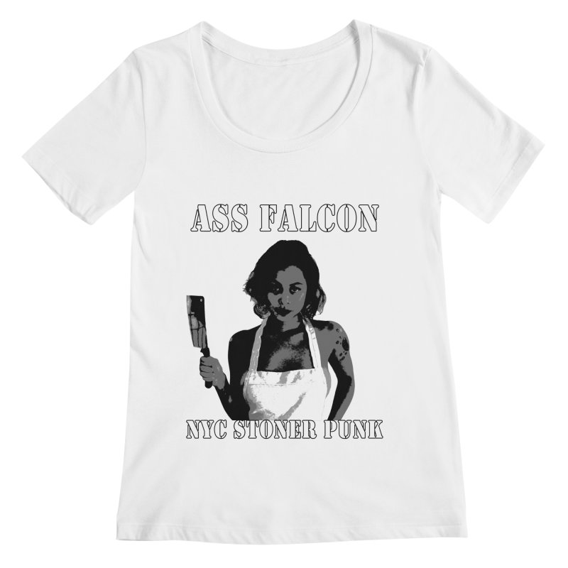 Ass Falcon Women's Scoopneck by Shirts That Never Happened