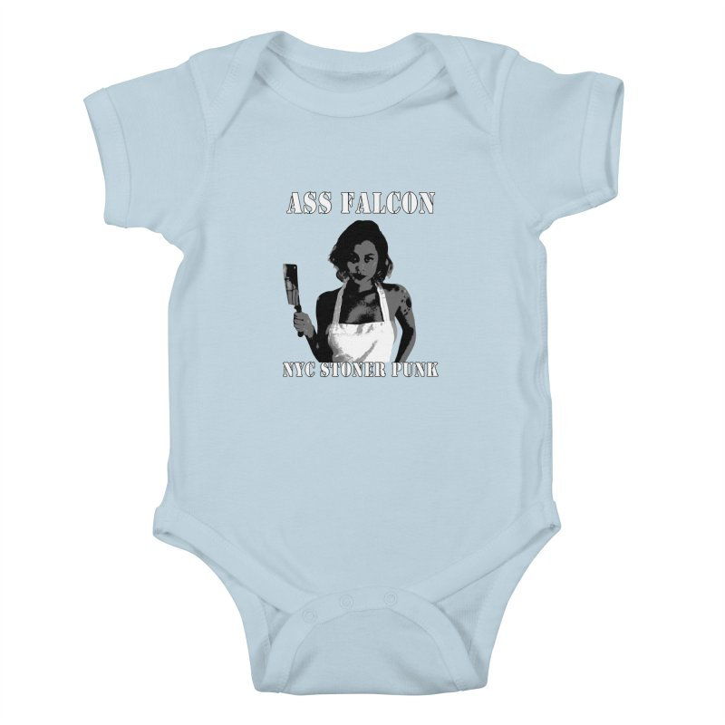 Ass Falcon Kids Baby Bodysuit by Shirts That Never Happened