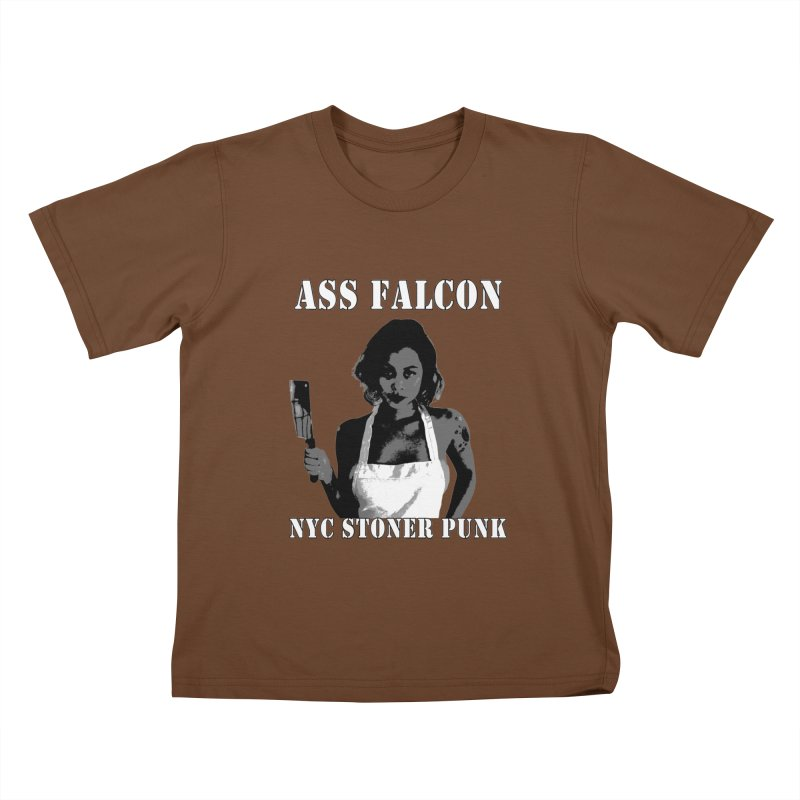 Ass Falcon Kids T-Shirt by Shirts That Never Happened