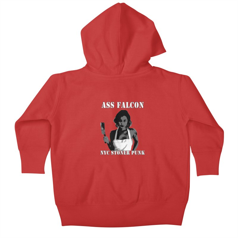 Ass Falcon Kids Baby Zip-Up Hoody by Shirts That Never Happened
