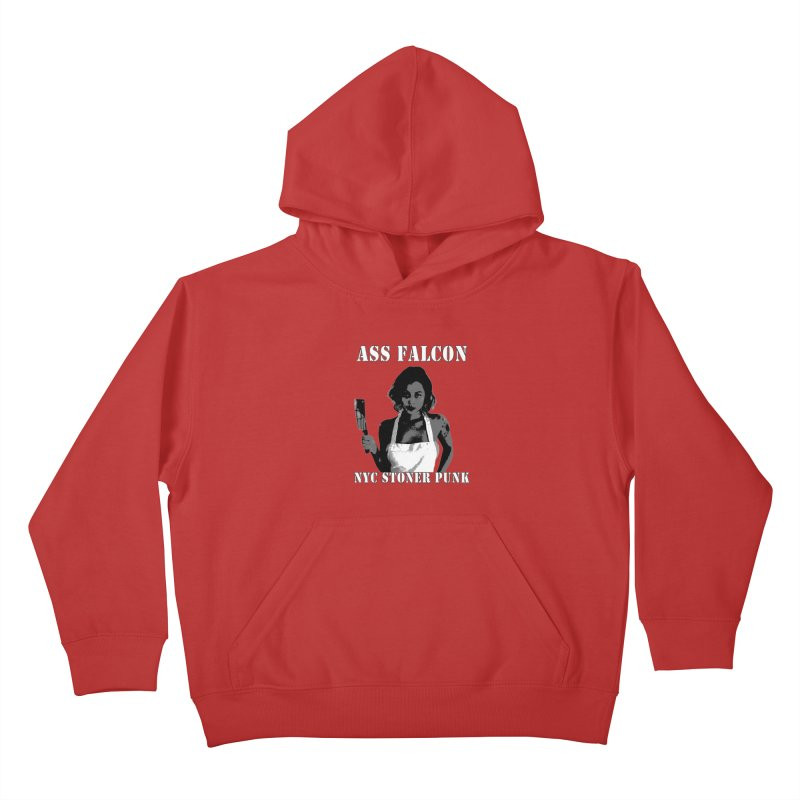 Ass Falcon Kids Pullover Hoody by Shirts That Never Happened
