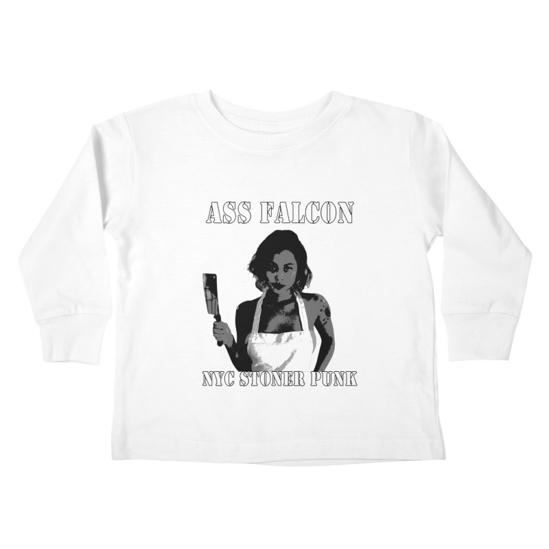 Ass Falcon Kids Toddler Longsleeve T-Shirt by Shirts That Never Happened