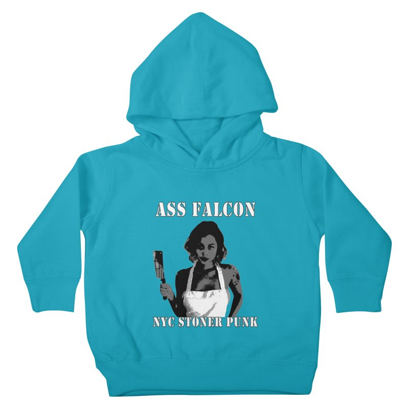 Ass Falcon Kids Toddler Pullover Hoody by Shirts That Never Happened