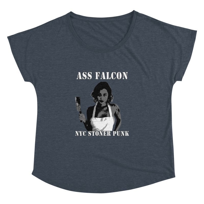 Ass Falcon Women's Dolman Scoop Neck by Shirts That Never Happened