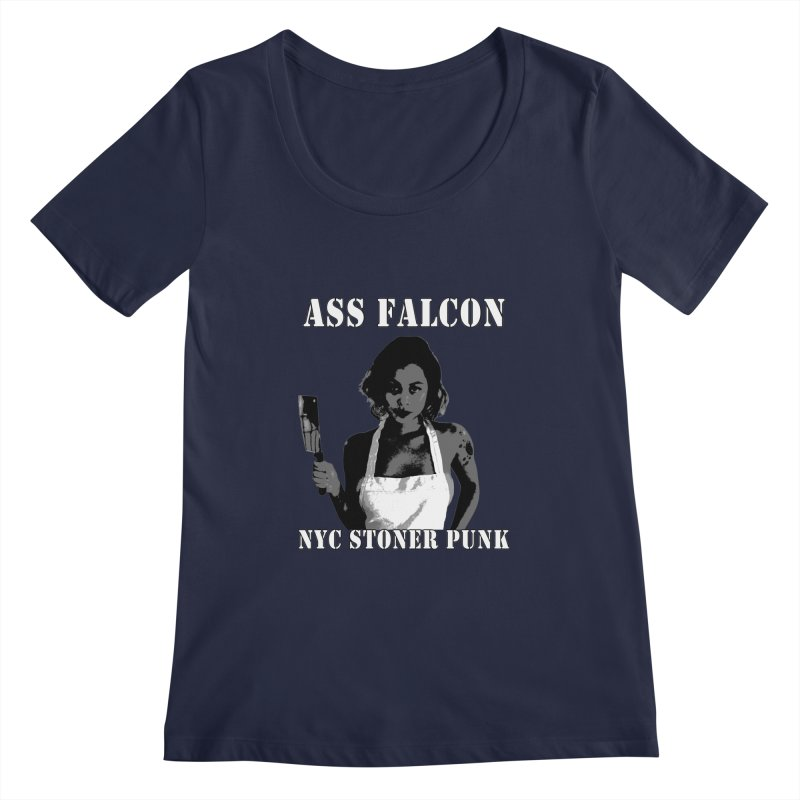 Ass Falcon Women's Regular Scoop Neck by Shirts That Never Happened