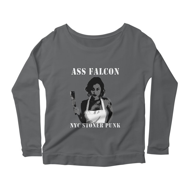 Ass Falcon Women's Scoop Neck Longsleeve T-Shirt by Shirts That Never Happened