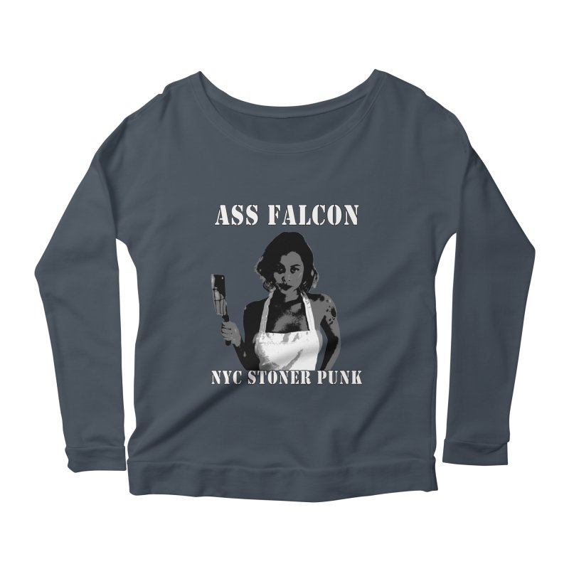 Ass Falcon Women's Longsleeve Scoopneck  by Shirts That Never Happened