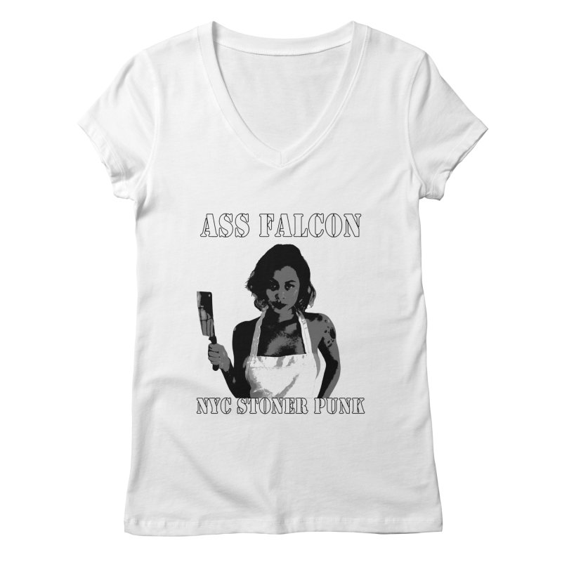 Ass Falcon Women's Regular V-Neck by Shirts That Never Happened