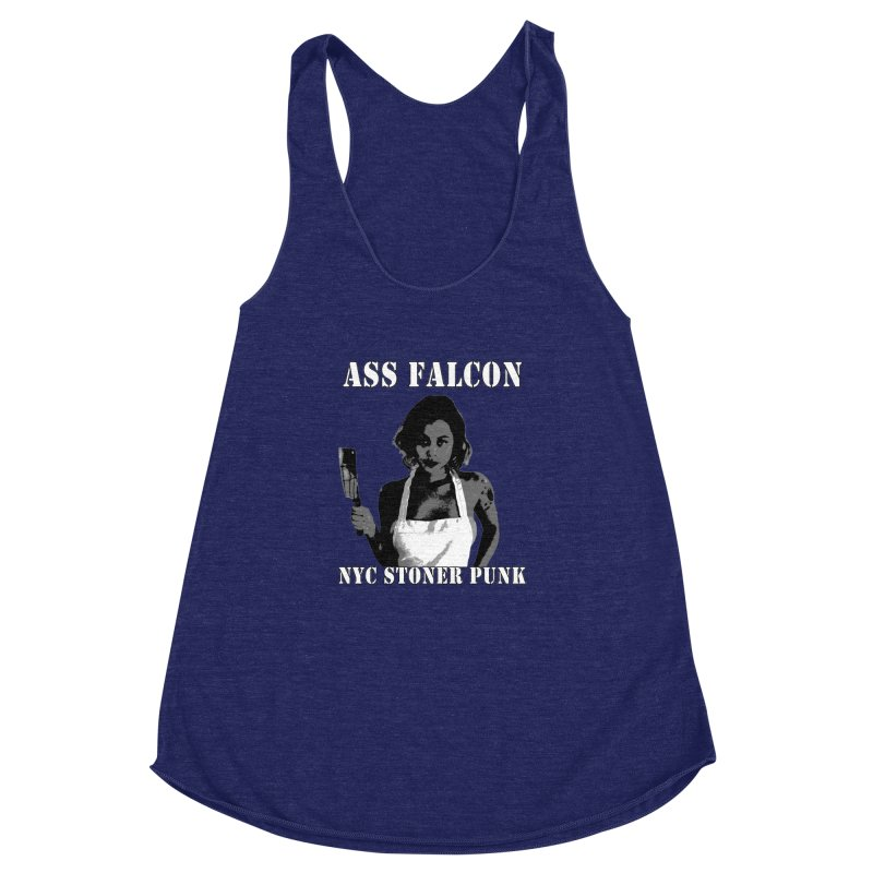 Ass Falcon Women's Racerback Triblend Tank by Shirts That Never Happened