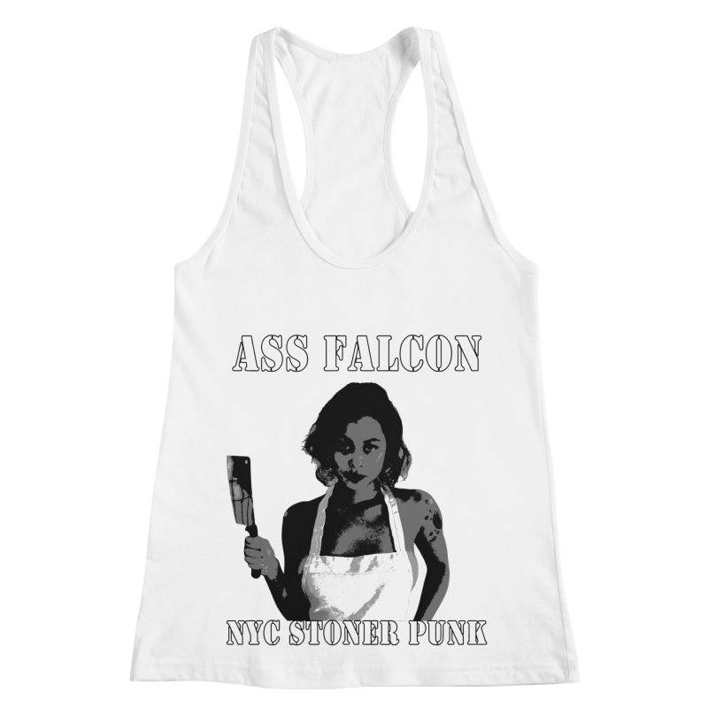 Ass Falcon Women's Racerback Tank by Shirts That Never Happened
