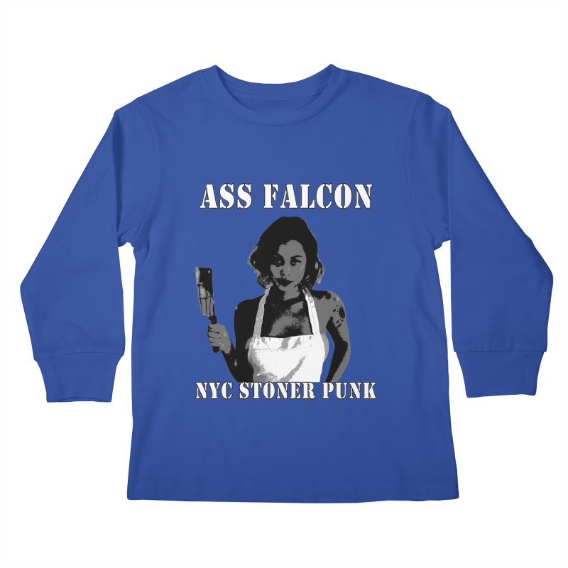 Ass Falcon Kids Longsleeve T-Shirt by Shirts That Never Happened
