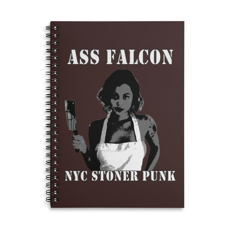 Ass Falcon Accessories Lined Spiral Notebook by Shirts That Never Happened