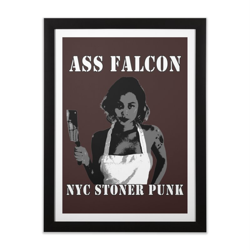 Ass Falcon Home Framed Fine Art Print by Shirts That Never Happened
