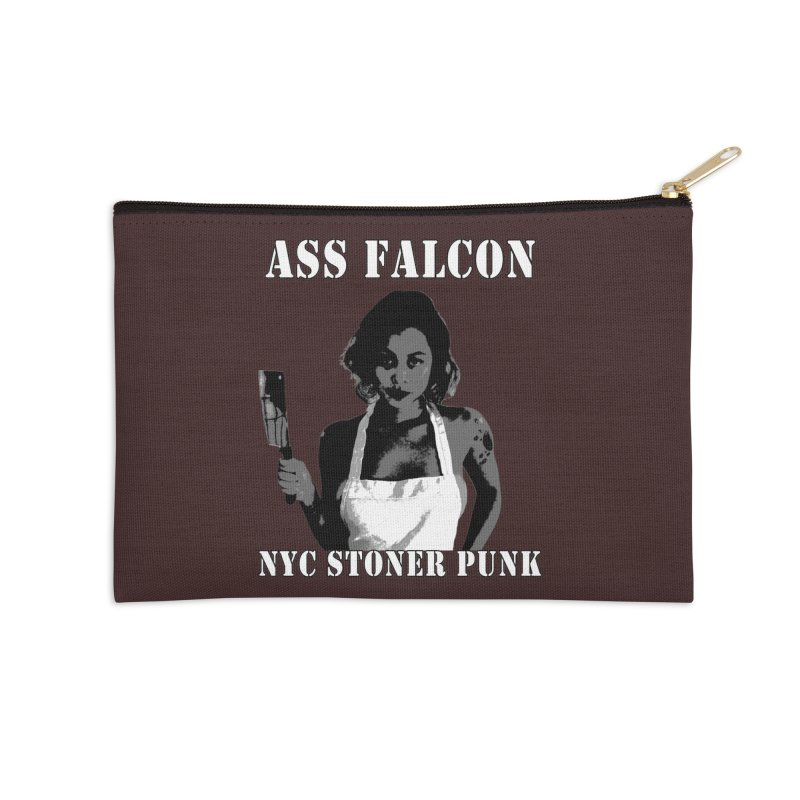 Ass Falcon Accessories Zip Pouch by Shirts That Never Happened