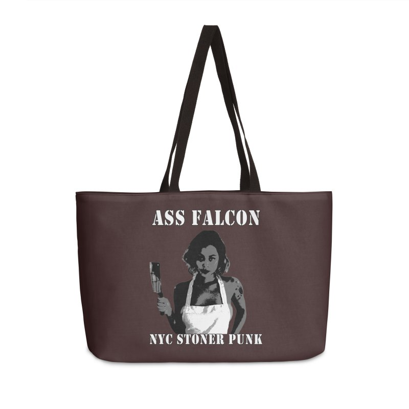 Ass Falcon Accessories Weekender Bag Bag by Shirts That Never Happened