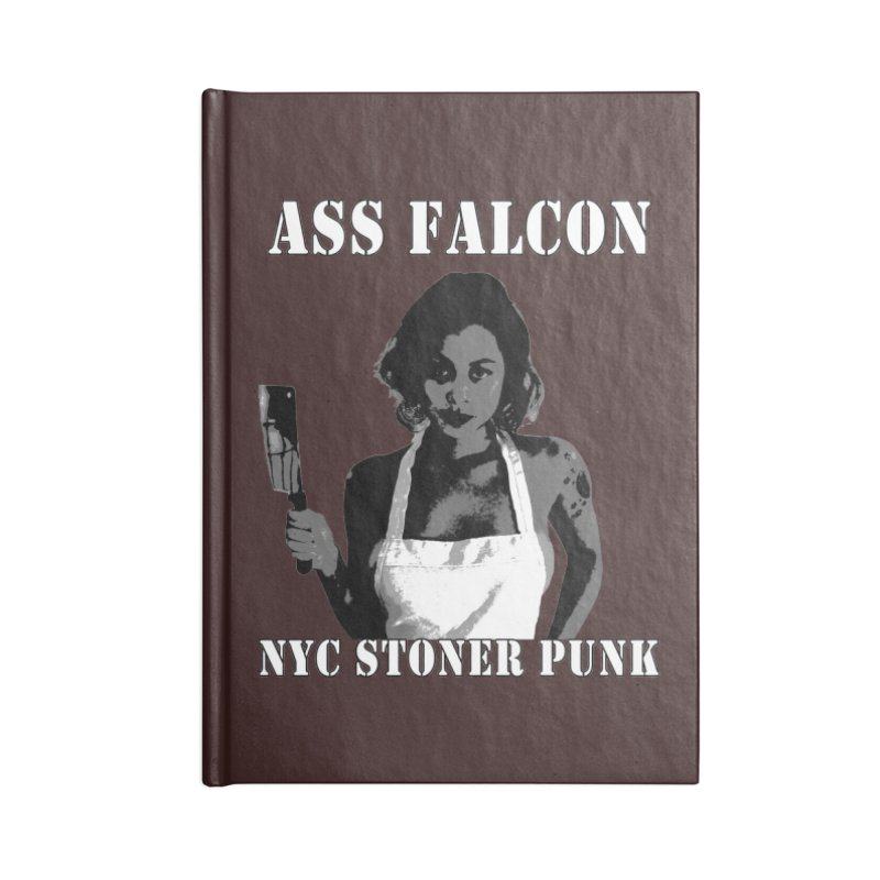 Ass Falcon Accessories Blank Journal Notebook by Shirts That Never Happened
