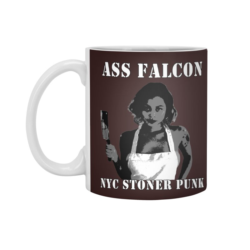 Ass Falcon Accessories Standard Mug by Shirts That Never Happened