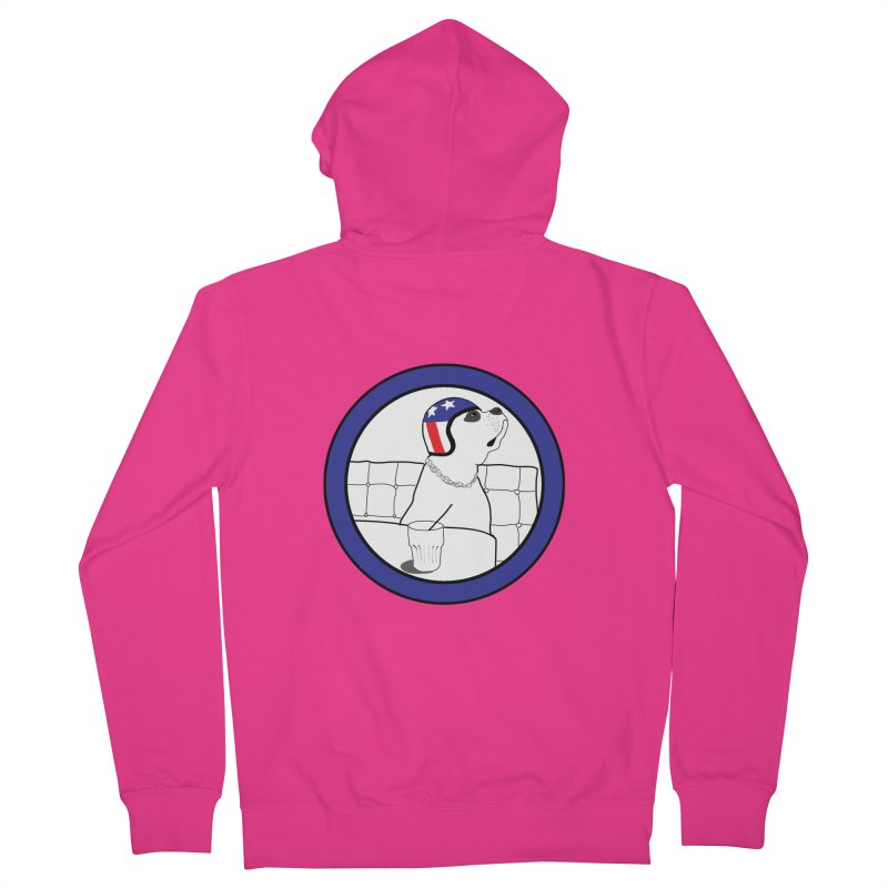Awesome Dog Men's French Terry Zip-Up Hoody by Shirts That Never Happened