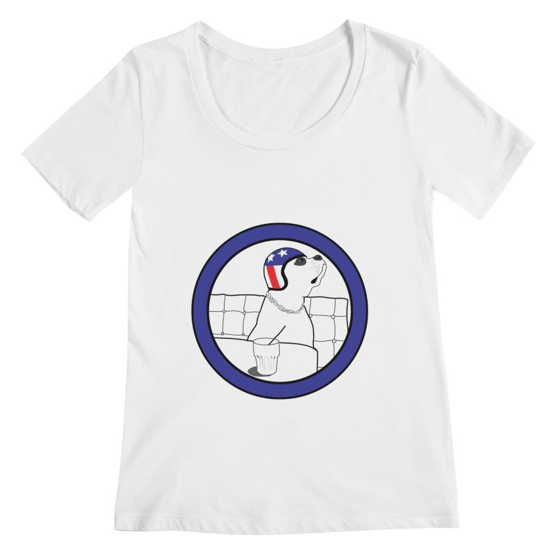 Awesome Dog Women's Regular Scoop Neck by Shirts That Never Happened